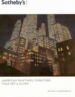 American Paintings Furniture Folk Art & Silver September 2011