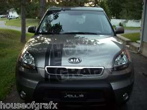 Kia Soul offset rally racing stripe decal decals
