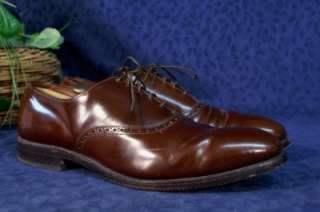 Vintage ALLEN EDMONDS Cognac DANBURY Oxfords 10D