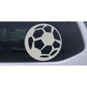Soccer Ball Sports Car Window Wall Laptop Decal Sticker    Silver 18in