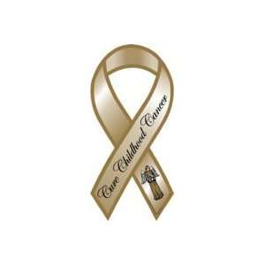 CHILDHOOD CANCER SUPPORT MINI RIBBON MAGNET Portions Donated TO Cause