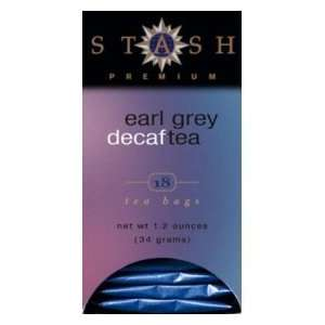 Stash Tea Decaffeinated   Earl Grey 18 foil tea bags (Pack of 12)