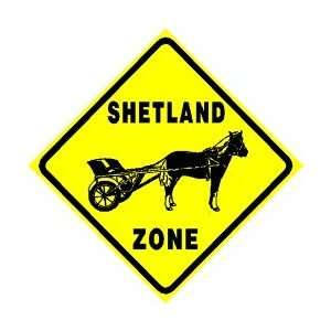 SHETLAND PONY ZONE horse pet equine sign