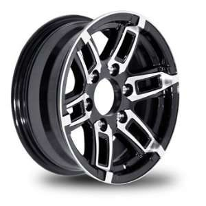 16x6 Linkster Black Aluminum 6x5.50 Trailer Wheel 3200 lb
