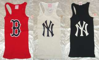 VICTORIA SECRET PINK NEW YORK YANKEES BOSTON REDSOX TANK TOP SHIRT XS