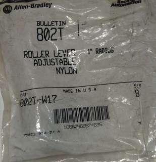 ALLEN BRADLEY 802T W17 Limit Switch Roller Lever NEW