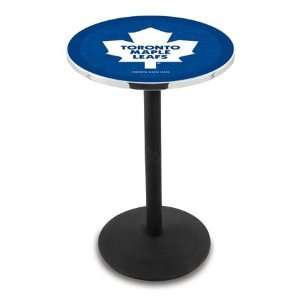 42 Toronto Maple Leafs Bar Height Pub Table   Round Base