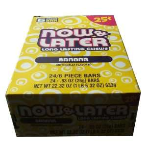 Now and Later Banana Flavored Candy Forty Eight 4 Piece Bars