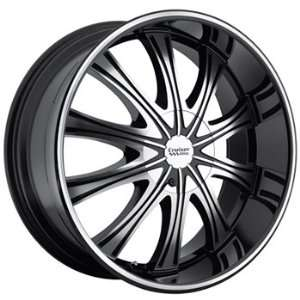 Cruiser Alloy Slice 20x8.5 Black Wheel / Rim 5x115 & 5x120 with a 40mm