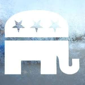 REPUBLICAN SYMBOL White Decal Car Window Laptop White