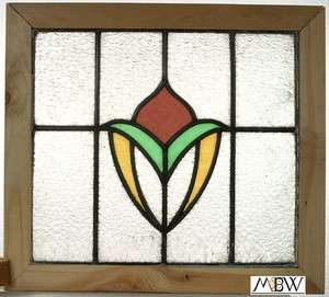 Antique Lead Glazed Stained Glass Window (FGBA900018E)