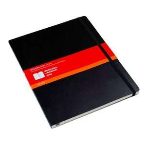 Large Black Soft Cover Weekly Planer + Notebook