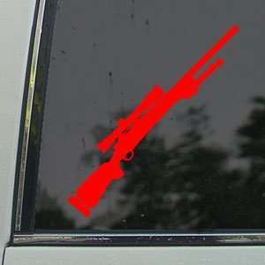 M24 Sniper Rifle M 24 7 Red Decal Truck Window Red Sticker