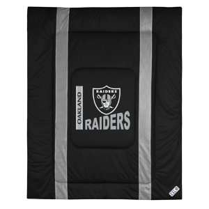 Oakland Raiders NFL Side Line Collection Bed Comforter