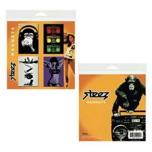 Steez Urban Graffiti Art 2x3 Inch Button Fridge Magnets