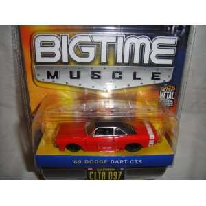 JADA 164 SCALE BIG TIME MUSCLE RED AND BLACK 1969 DODGE