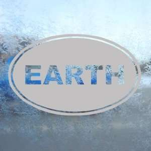 EARTH Euro Oval Gray Decal Car Truck Bumper Window Gray