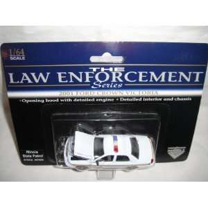 CROWN VICTORIA ILLINOIS STATE PATROL DIE CAST POLICE CAR Toys & Games