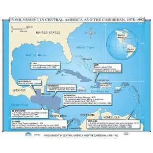Map U.S. History Wall Maps   U.S. Intervention in Latin America