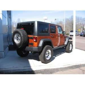 Jeep Wrangler Black Aluminum Tubular Side Steps 4 door