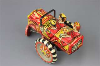 Vintage Marx Campus Crazy Tin Wind up Car Leapin Lena