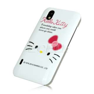 WHITE HELLO KITTY FRIENDSHIP HARD SNAP BACK CASE COVER FOR LG OPTIMUS