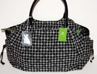 KATE SPADE Black White Classic Noel STEVIE BABY, Diaper BAG +PAD