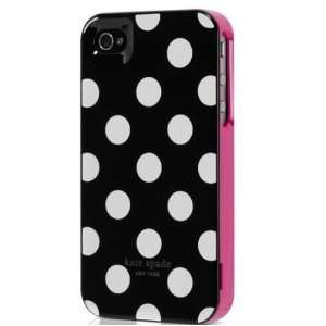 Contour Design Kate Spade White Polka Dot Black Iphone 4 Case + FAST