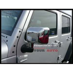 2007 2012 Jeep Wrangler Chrome Mirror Covers (Set of 2