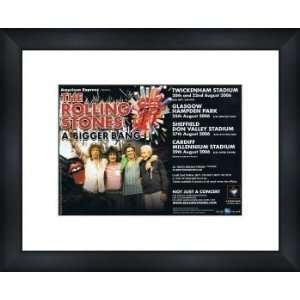 ROLLING STONES A Bigger Bang Tour 2006   Custom Framed