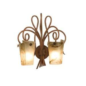 Kalco 4286TN Tuscan Sun Tribecca 2 Light Wrought Iron Wall