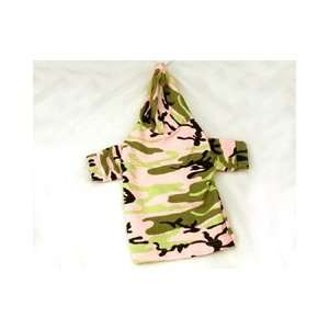Leash Accessible Hooded Camouflage Dog Shirt (Small) Pet