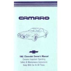 1982 CHEVROLET CAMARO Owners Manual User Guide
