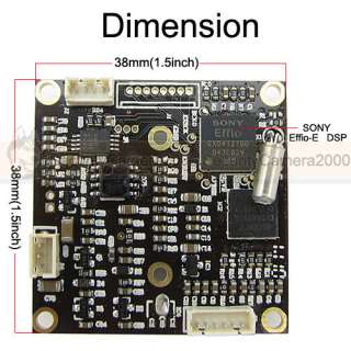 SONY Effio DSP, SONY CCD Color Board Camera, Multilingual, OSD Menu