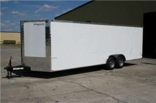 ENCLOSED TRAILER CAR HAULER SCREWLESS DEXTER ONE PIECE ROOF 102x26
