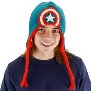 Captain America Shield Laplander Child Hat / Red/White/Blue   One Size