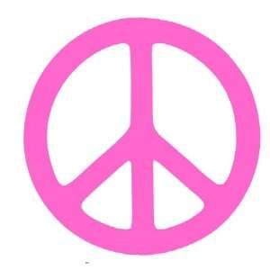 Pink Peace Sign Vinyl Wall Decal Sticker 22 Baby