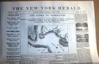 15 Civil War NEWSPAPERS w Display Headlines 1861 1865 Ft Sumter to Lee