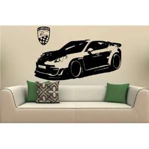 Wall MURAL Vinyl Sticker Car PORSCHE PANAMERA S. 1488