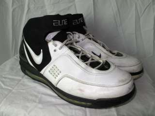 Mens NIKE Air Max Elite BASKETBALL White Leather Sneakers Shoes Size