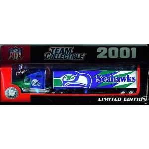2001 Seattle Seahawks Diecast Tractor Trailer Semi