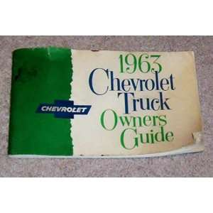 1963 Chevrolet Truck Owners Guide Chevrolet Books