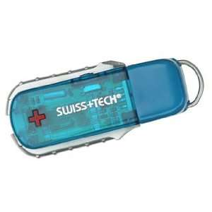 Swiss Tech USB Flash Drive Key Ring Tool Set
