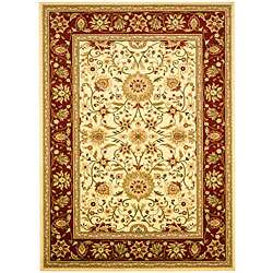 Lyndhurst Collection Majestic Ivory/ Red Rug (4 x 6)