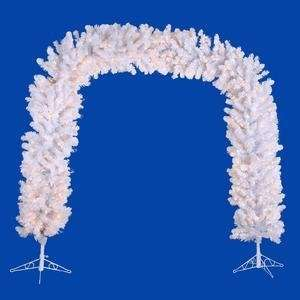Vickerman 11524   8 x 95 Crystal White Spruce Arch 800 Clear Lights