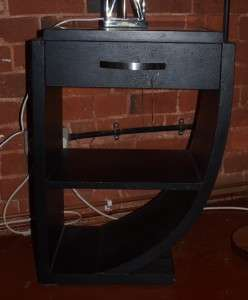 Modern Art Deco Style Black Side Table   67cm High