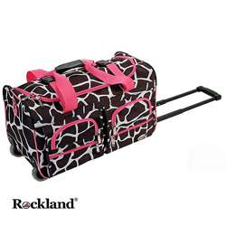 Giraffe/Pink 22 inch Carry On Rolling Duffel Bag