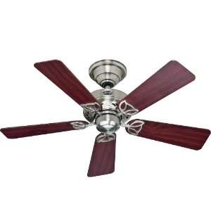 Hunter Fan 28530 Core Ceiling Fans 42 Inch Brushed Nickel with 5 Maple