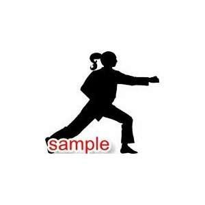 SPORTS GIRL PUNCH 10 WHITE VINYL DECAL STICKER