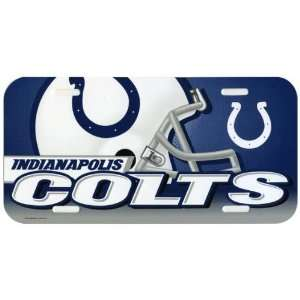Indianapolis Colts   Helmet & Logo License Plate